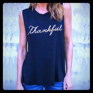 "🆕!!! NWOT 2018 sleeveless ""Thankful"" shirt"